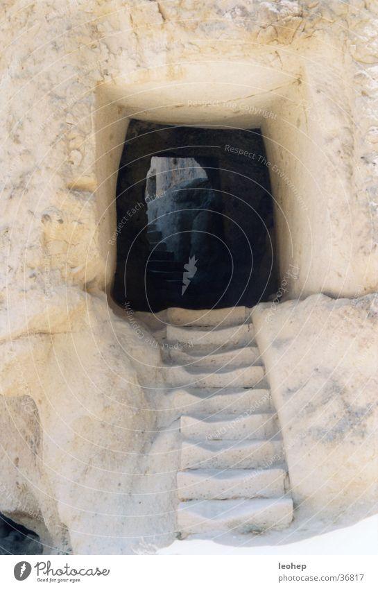 treppe in göreme, türkei Türkei Tuffstein Eingang Architektur höhlenkirchen Treppe