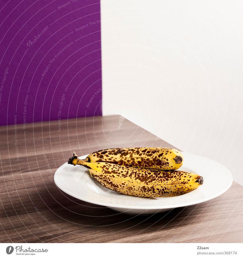 ....aber mit stil Lebensmittel Frucht Bioprodukte Vegetarische Ernährung Teller eckig einfach elegant Gesundheit modern natürlich braun gelb violett ästhetisch