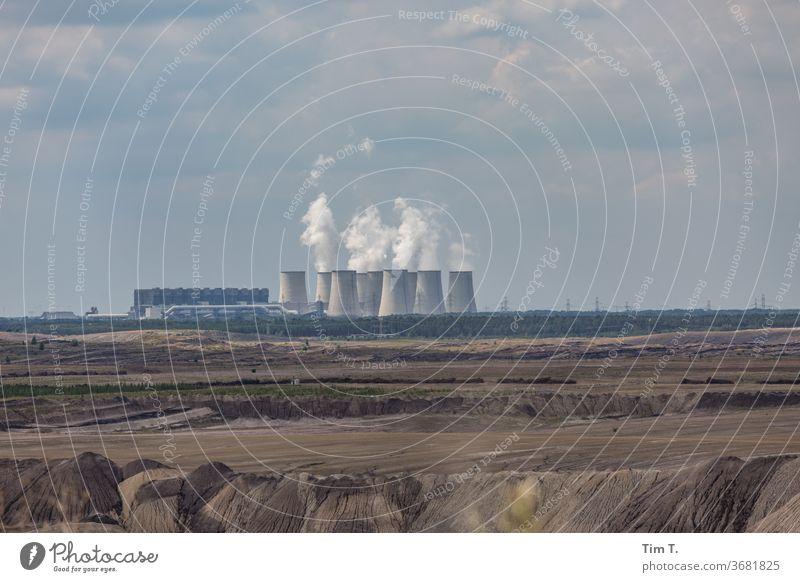 Tagebau Lausitz tagebau Jänschwalde Umwelt Landschaft Außenaufnahme Farbfoto Energiewirtschaft Umweltverschmutzung Menschenleer Kohlekraftwerk Industrie