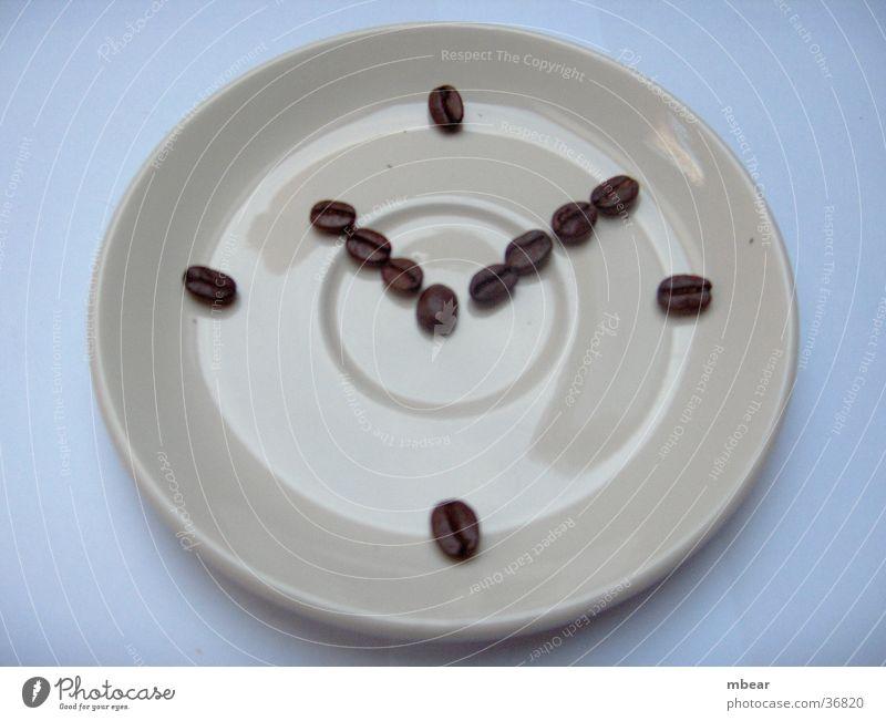 Zeit für Kaffee Uhr Café Untertasse Kaffeebohnen Geschirr