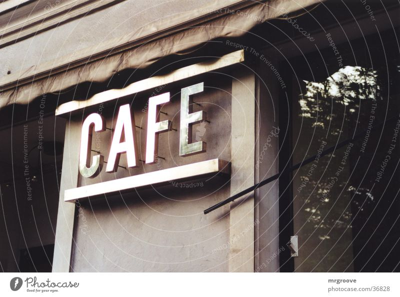 cafe Ferien & Urlaub & Reisen Metall Architektur Schilder & Markierungen Schriftzeichen Café Aufschrift