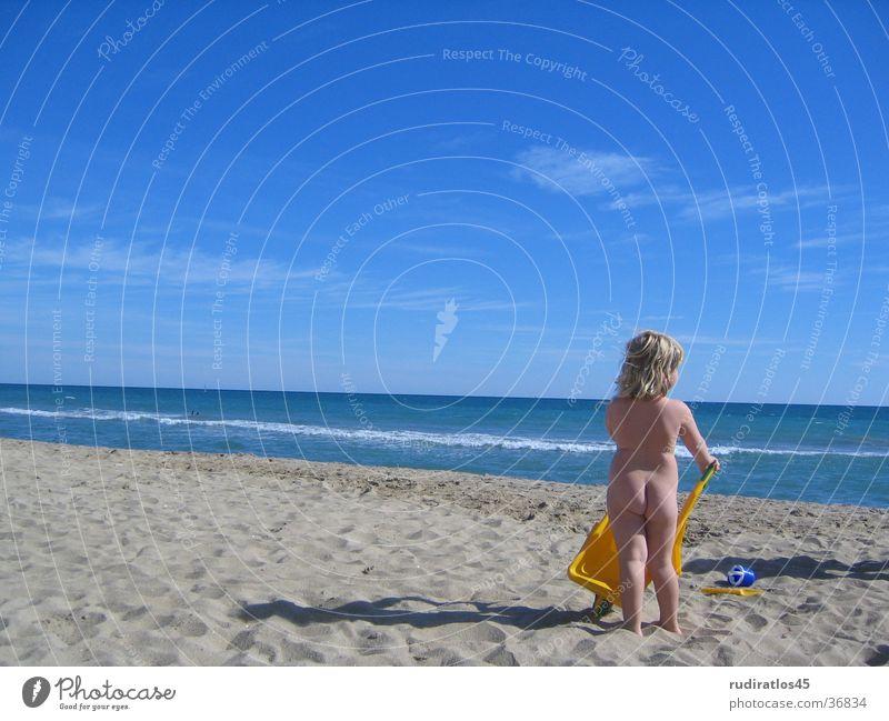 Strandengel Meer Mädchen blond