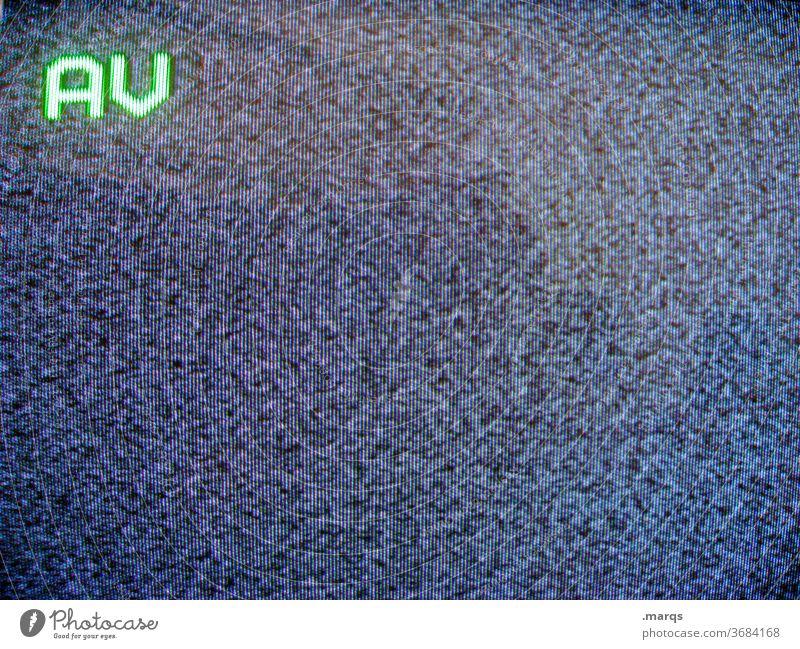 AV Fernseher Bildschirm Störung Rauschen Empfang Sender Video Signal Technik & Technologie Unterhaltungselektronik Fernsehen Medien retro Bildröhre