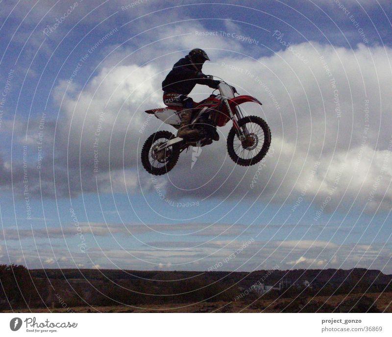 Motorcross Sport fliegen Rennsport Motorrad Extremsport