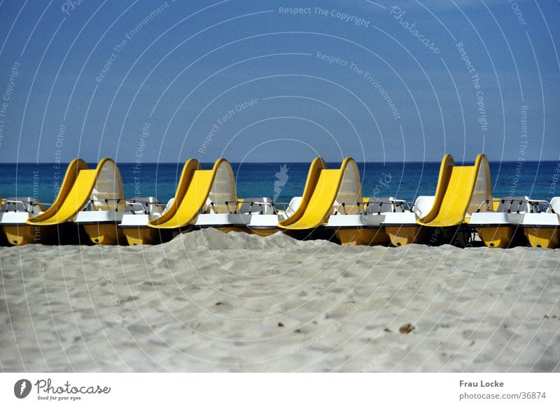 Wasserrutsche Wasser Sonne Meer Freude Strand Ferien & Urlaub & Reisen Spielen Sand Rutsche