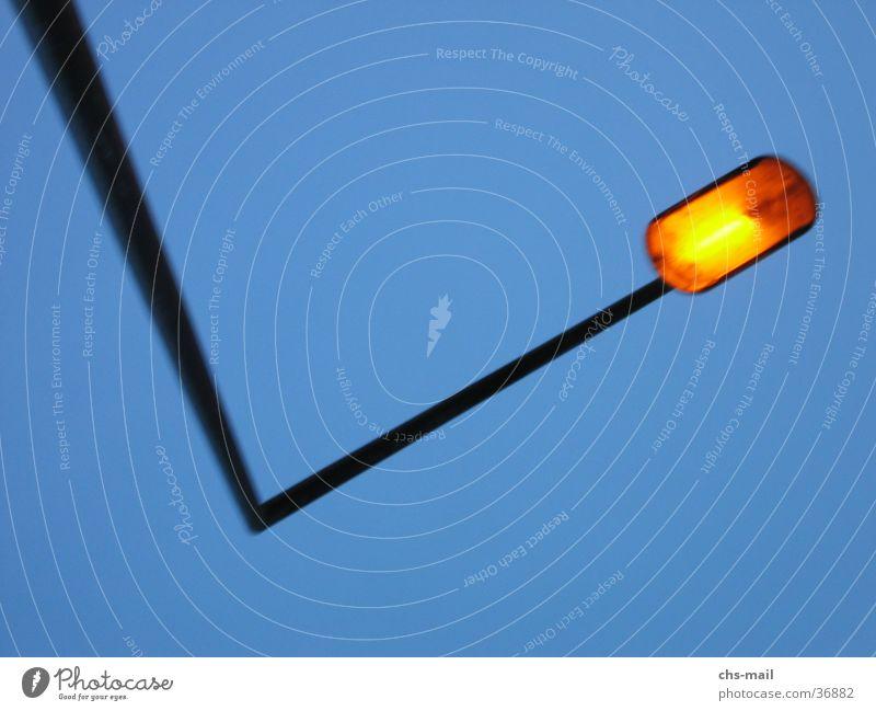 ecklicht Laterne Licht Dämmerung Industrie Ecke Himmel orange