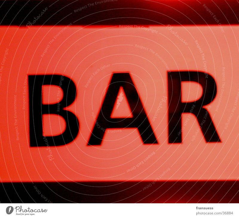 Bar rot orange Schilder & Markierungen Schriftzeichen Bar Fototechnik