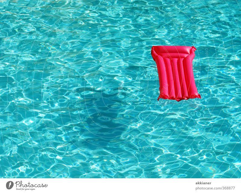blau vs. pink Ferien & Urlaub & Reisen Wasser Sommer hell rosa Urelemente Schwimmbad Luftmatratze Sommerferien