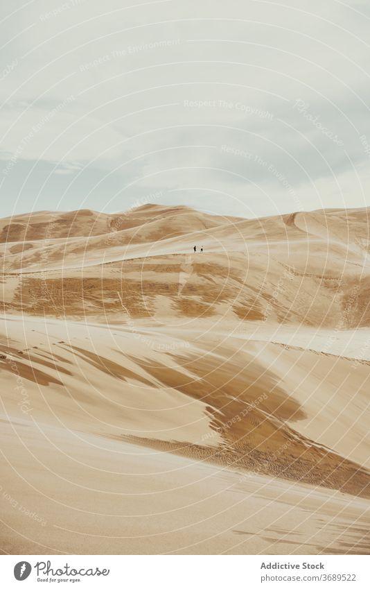 Great Sand Dunes National Park Düne Wahrzeichen Berge u. Gebirge national Landschaft malerisch wüst Colorado USA Vereinigte Staaten amerika Himmel wild Natur