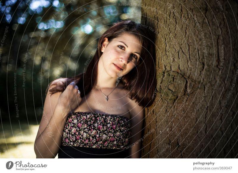 need you Mensch feminin Junge Frau Jugendliche Erwachsene Leben Körper 1 18-30 Jahre Natur Pflanze Sommer Schönes Wetter Baum Garten Park Wald Kleid langhaarig