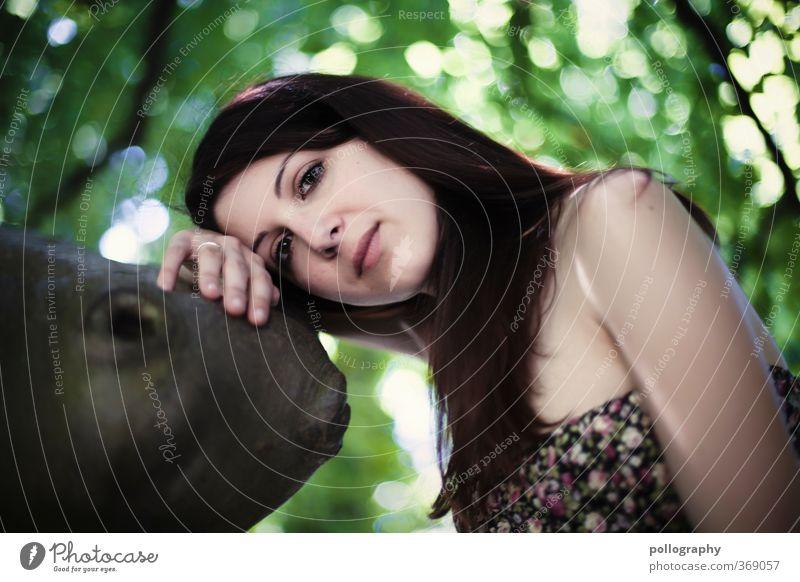 Kiri VI Mensch feminin Junge Frau Jugendliche Erwachsene Leben Körper 1 18-30 Jahre Umwelt Natur Pflanze Frühling Sommer Schönes Wetter Baum Blatt Baumstamm