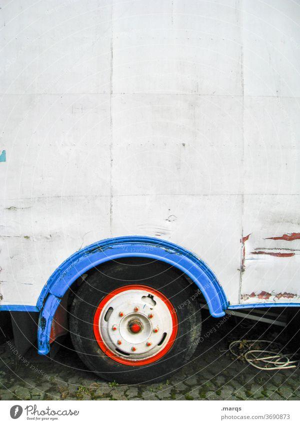 Zirkuswagen Camping Wohnwagen Abenteuer Ferien & Urlaub & Reisen Freizeit & Hobby Blech Verkehrsmittel Reifen weiß Mobilität Anhänger