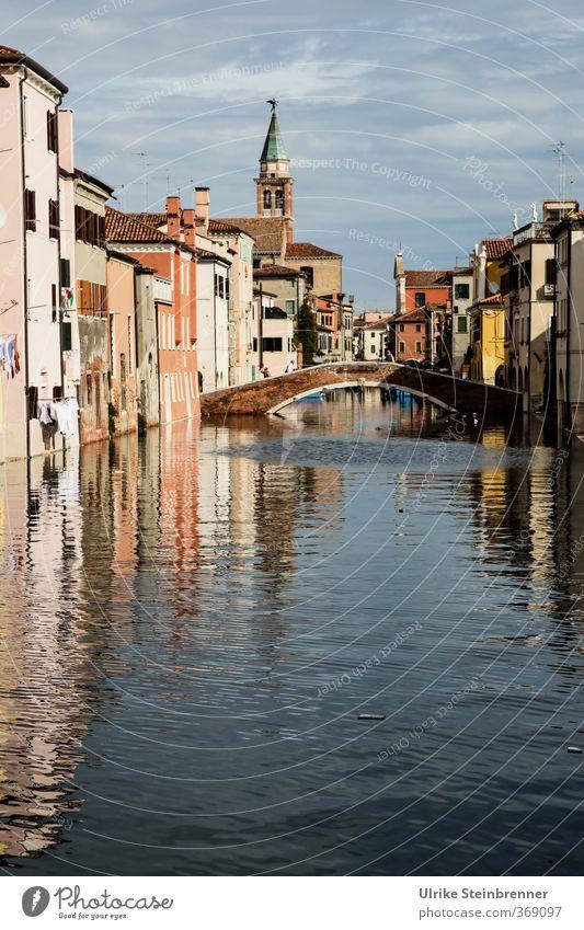 Nah am Wasser gebaut 2 Ferien & Urlaub & Reisen Tourismus Sightseeing Städtereise Sommer Wellen Bucht Lagune Chioggia Venedig Veneto Italien Fischerdorf