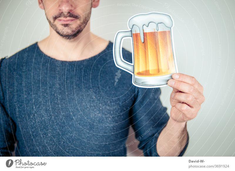 Thema - Alkohol Mann sucht Alkoholiker Alkoholismus Alkoholsucht anonym trinken Konzept Kontext Aussage Bier Sommer Drogen Sucht Alkoholisiert Getränk