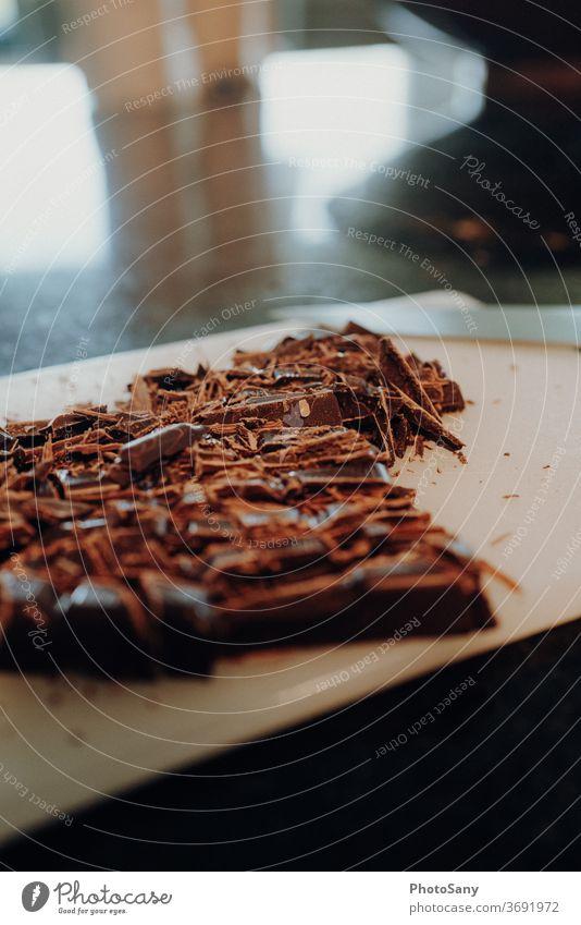 bake it - one Foodfotografie Schokolade Küche backen Schokoladenbruch Holzbrett