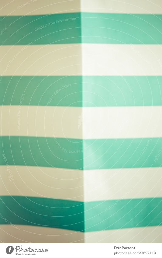 Duschvorhangfalte Linie Falte Vorhang türkis weiß Stoff Innenaufnahme hängen Faltenwurf Dekoration & Verzierung Häusliches Leben unscharf Hintergrund Markise