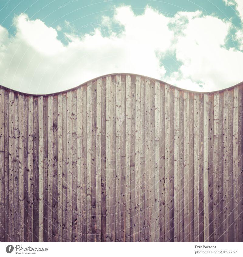Wellengang Fassade Wellenform Wand Himmel Strukturen & Formen Muster abstrakt Gebäude Mauer Bauwerk Architektur Haus Holz Bretter Wolken ästhetisch Linie