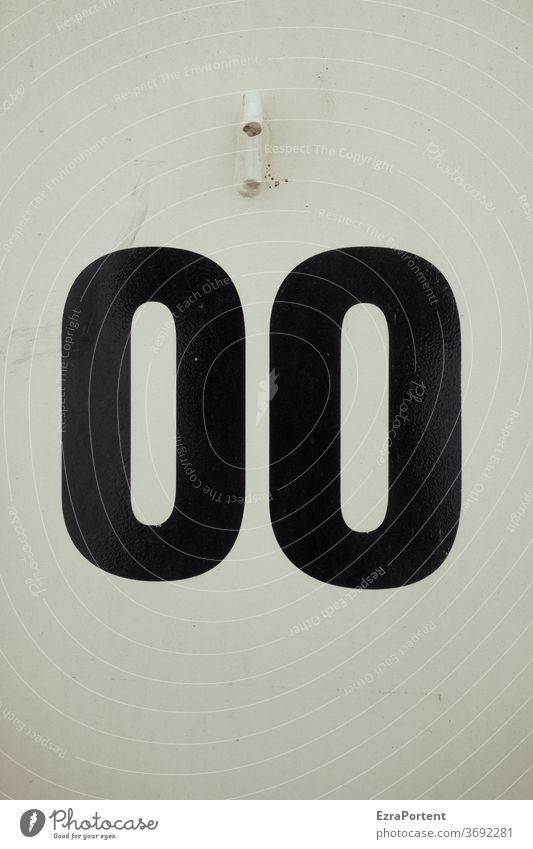 kein Gegensatz? null Zahl 0 00 Nummer Symbole & Metaphern schwarz weiß Zeichen Hintergrund Ziffern & Zahlen Toilette Schilder & Markierungen Schriftzeichen