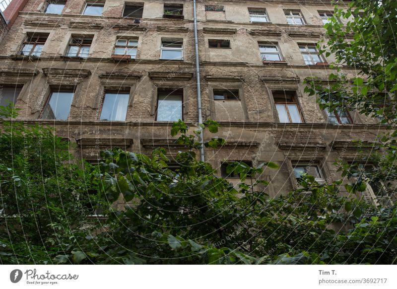 Zweiter Hinterhof Berlin Prenzlauer Berg 2020 Stadt Altbau unsaniert Stadtzentrum Hauptstadt Altstadt Menschenleer Außenaufnahme Haus Fenster Bauwerk Gebäude
