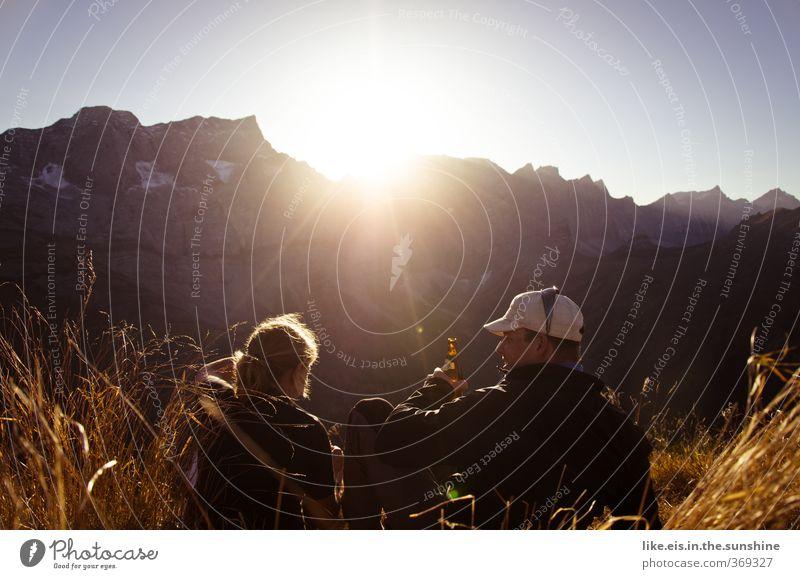 [fast] wochenende! Mensch Natur Ferien & Urlaub & Reisen Jugendliche Erholung Junge Frau Junger Mann Berge u. Gebirge Leben Herbst Freiheit Felsen Paar