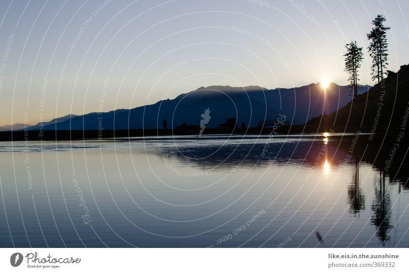 sunrise sunrise looks like.. Natur Ferien & Urlaub & Reisen blau Sommer Baum Erholung Einsamkeit Landschaft ruhig Umwelt Berge u. Gebirge See natürlich Felsen