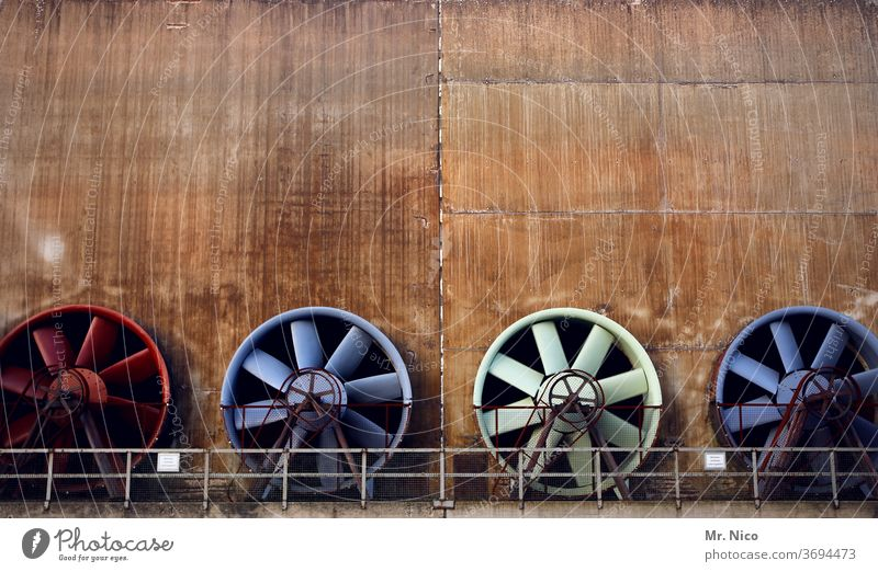 Farbkombination I zeit das sich was dreht Ventilator Ventilatoren Luft Technik & Technologie Drehung Lüftung Industrie Metall Energiewirtschaft Industrieanlage