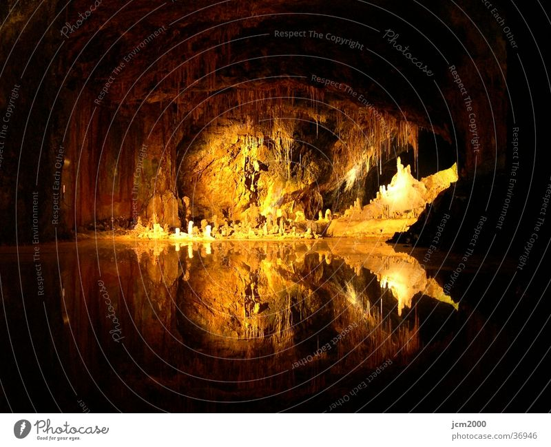 Feengrotten Wasser Berge u. Gebirge Lichtspiel Bergbau Höhle
