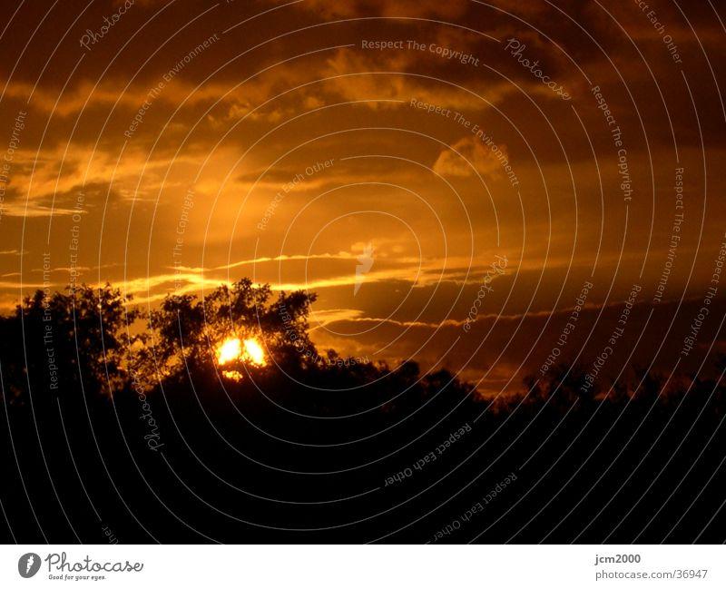 Sonnenuntergang Nacht Wolken Abend
