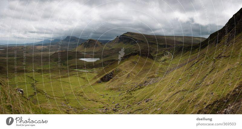 Draußen zu Hause Himmel Natur grün Sommer Landschaft Wolken Umwelt Berge u. Gebirge grau braun Felsen Feld offen frei bedrohlich Unendlichkeit