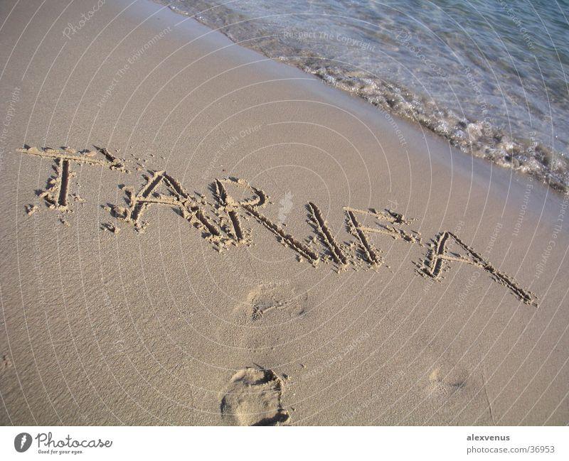 tarifa Meer Strand Sand Europa Schriftzeichen Süden Tarifa
