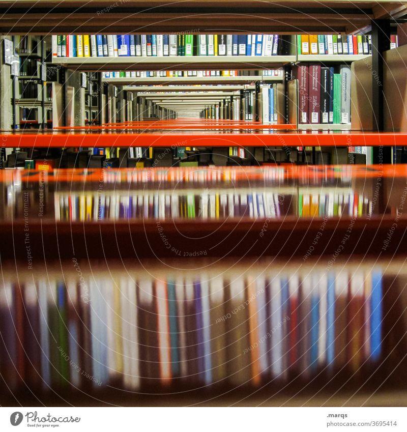 Bücherregal Buch Bibliothek Universität Bildung Erwachsenenbildung Studium lernen lesen viele Antiquariat Ordnung sammelband Wissen forschen studieren