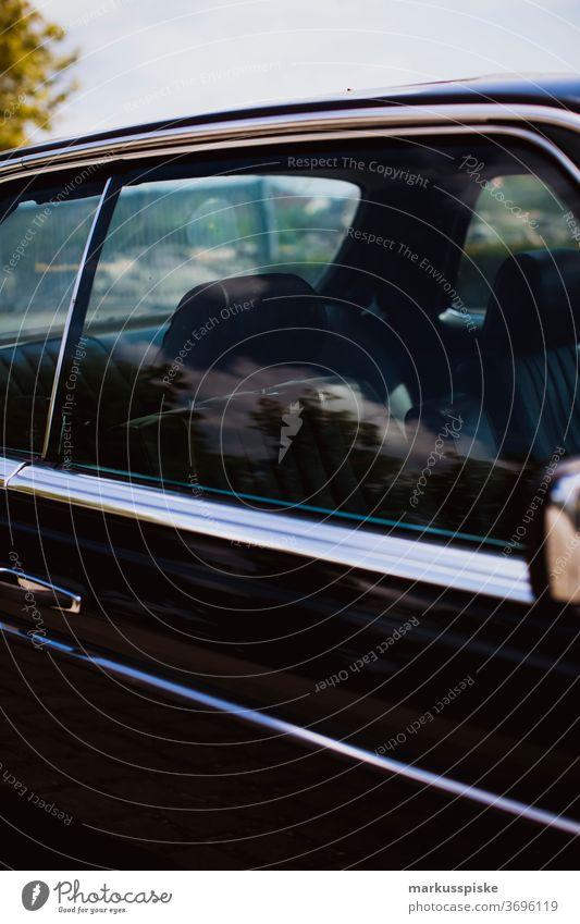 Mercedes Benz W123 280 CE 3.5 Coupé Auto Stil Antiquität Automobil PKW Karosserie Autos Chrom verchromt klassisch abschließen Cockpit Voraussetzung Kreuzfahrt