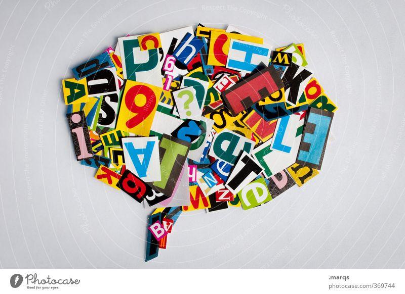Linguistik Bildung sprechen Sprechblase Buchstaben Kommunizieren Kommunikationsmittel Kreativität Lateinisches Alphabet Schriftzeichen modern Rede Redekunst