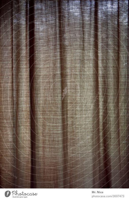 Vorhang zu Vorhang auf Stoff Gardine Häusliches Leben Strukturen & Formen Dekoration & Verzierung Wohnung hängen Licht durchschimmernd Raum Fenster