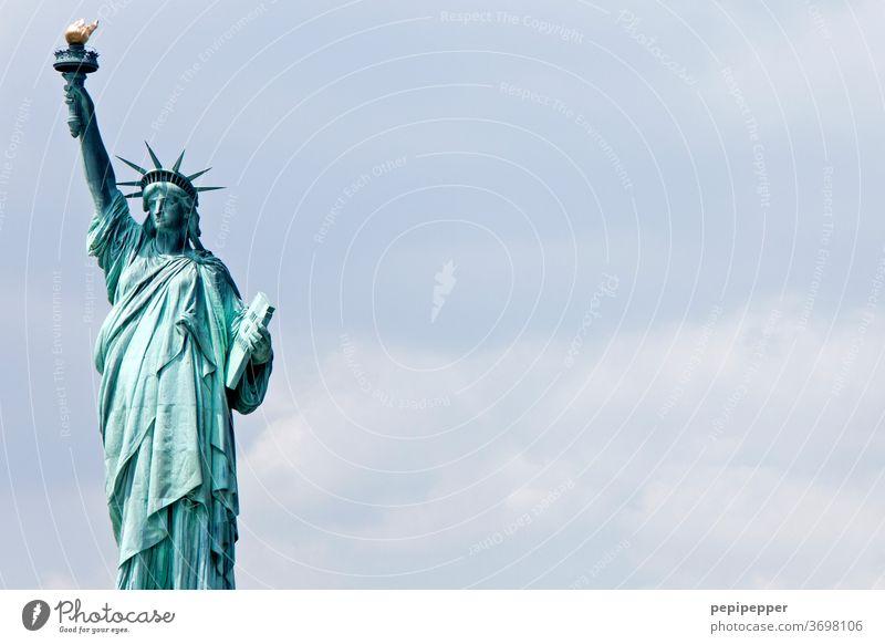 Freiheitsstatue New York, Amerika New York City USA Wahrzeichen Sehenswürdigkeit Außenaufnahme Denkmal Ferien & Urlaub & Reisen Städtereise Ausflug Sightseeing