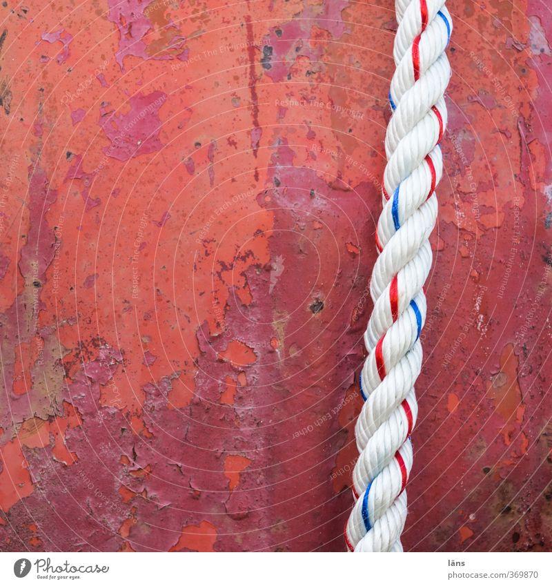 spannung alt Farbe rot Wand Seil neu verfallen gespannt