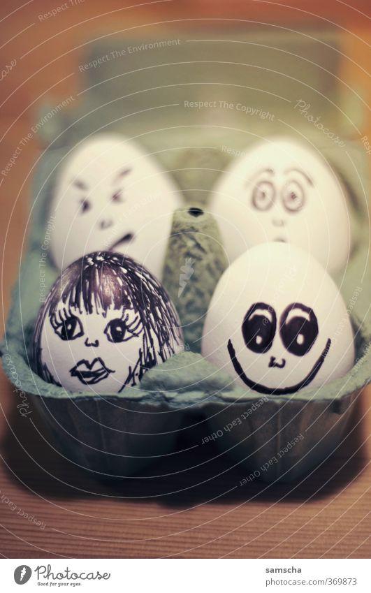 Eierköpfe Gesicht Gesunde Ernährung lachen Kopf Essen Lebensmittel Speise Foodfotografie Fröhlichkeit Kochen & Garen & Backen Gesichtsausdruck Frühstück
