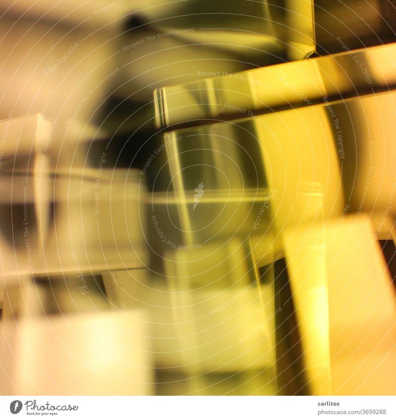 Auf der Suche nach dem Sinn ... des Bildes Muster abstrakt Doppelbelichtung Unschärfe gelb Design Strukturen & Formen einzigartig Irritation modern Coolness