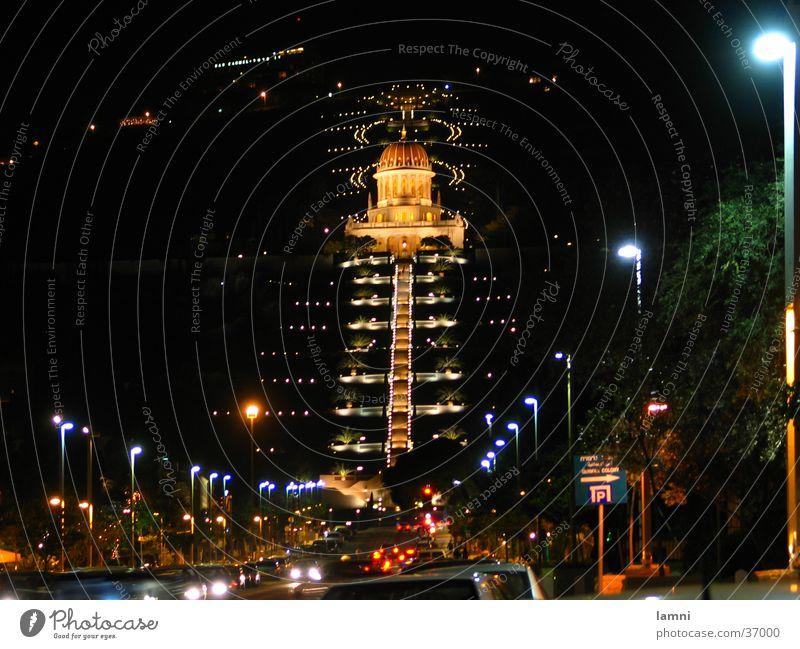 Baha'i Park Haifa Stadt Straße Berge u. Gebirge Indien Verkehr Neu Delhi historisch Israel Bahai Tempel Karmelberg
