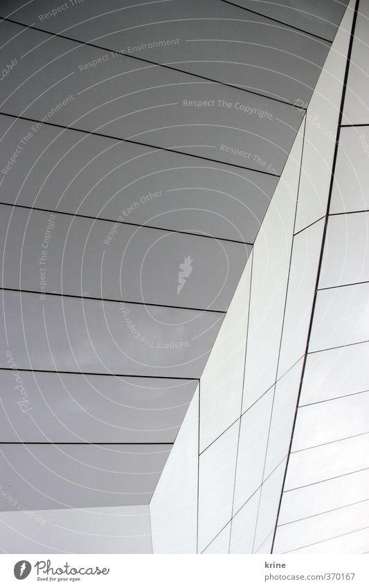 architektur blau Stadt schön weiß Haus kalt Wand Architektur Mauer grau Stein Metall außergewöhnlich Fassade elegant Lifestyle