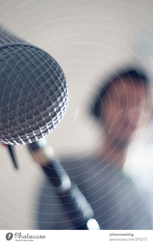 sagen sie mal .. sprechen Arbeit & Erwerbstätigkeit maskulin modern Kommunizieren lernen Studium Schutz Beruf Student Medien nah Dienstleistungsgewerbe