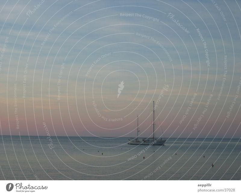 giglio sunset Sommer Europa Italien Segelboot Mittelmeer Toskana Isola del Giglio