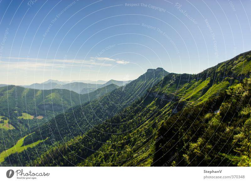 Aussicht auf den Schmittenstein Himmel Natur Ferien & Urlaub & Reisen Sommer Erholung Landschaft ruhig Ferne Wald Berge u. Gebirge gehen Erde Horizont