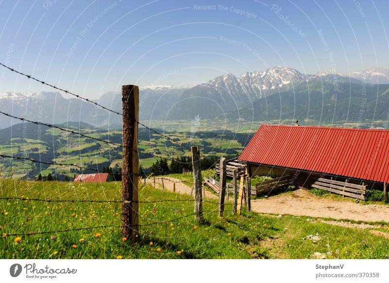 Almhütte - Schlenkenalm Natur Ferien & Urlaub & Reisen Sommer Erholung Landschaft ruhig Ferne Berge u. Gebirge Gras Wege & Pfade Horizont Tourismus wandern