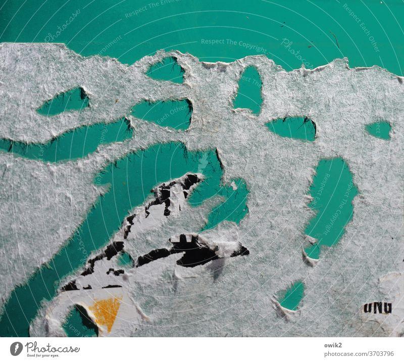 Neuseeland Papier Reste Löcher abgekratzt Spuren abstrakt Landschaft blick von oben Vogelperspektive Draufsicht Seen Wasseroberfläche Ufer Strukturen & Formen