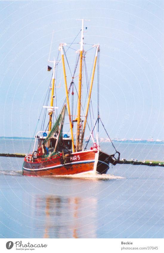 Fischkutter Meer Ferien & Urlaub & Reisen Wasserfahrzeug Europa Nordsee Schleswig-Holstein Fischerboot Harlesiel Krabbenkutter