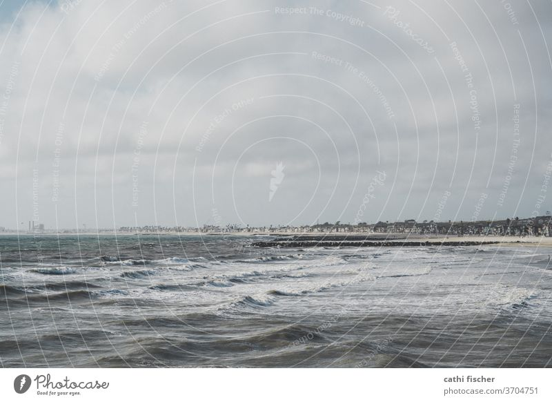 La Jolla Meer Kalifornien Küste Strand USA Wasser Pazifik Farbfoto Natur Küstenstreifen Ferien & Urlaub & Reisen Sommer Wellen blau Tag amerika Amerika