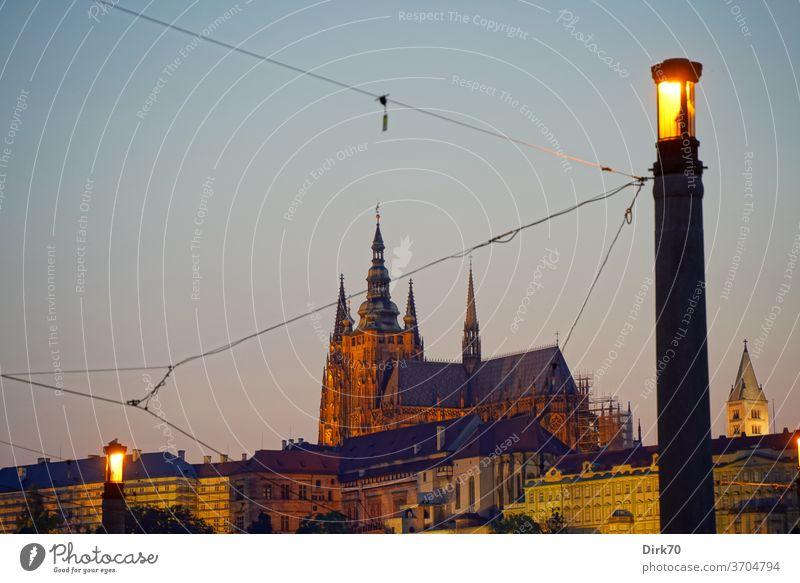 Veitsdom im Abendlicht veitsdom Hradschin Prager Burg Kleinseite Tschechien Gotik gotische Architektur UNESCO UNESCO-Weltkulturerbe