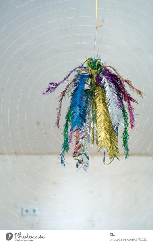 deko ist alles Freude Dekoration & Verzierung Party Feste & Feiern Geburtstag trist mehrfarbig Vorfreude Langeweile Lebensfreude skurril Steckdose Raum Tapete