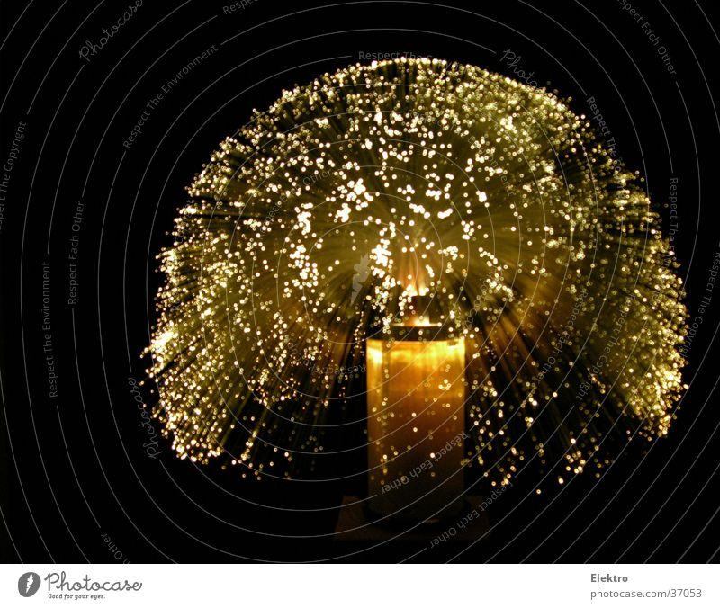 Glasfaserleucht weiß Low-Tech Lampe Nacht schwarz Feuerwerk Licht Glühbirne Weihnachten & Advent Weihnachtsdekoration Silvester u. Neujahr Häusliches Leben Club